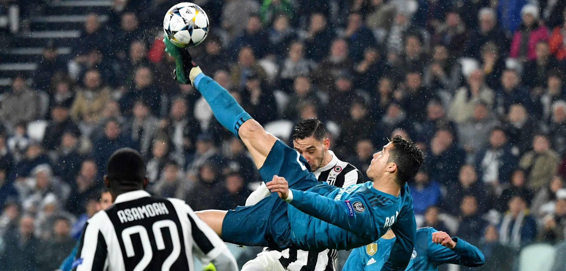 """""""Chilena"""" de Cristiano es el Mejor Gol en Europa"""