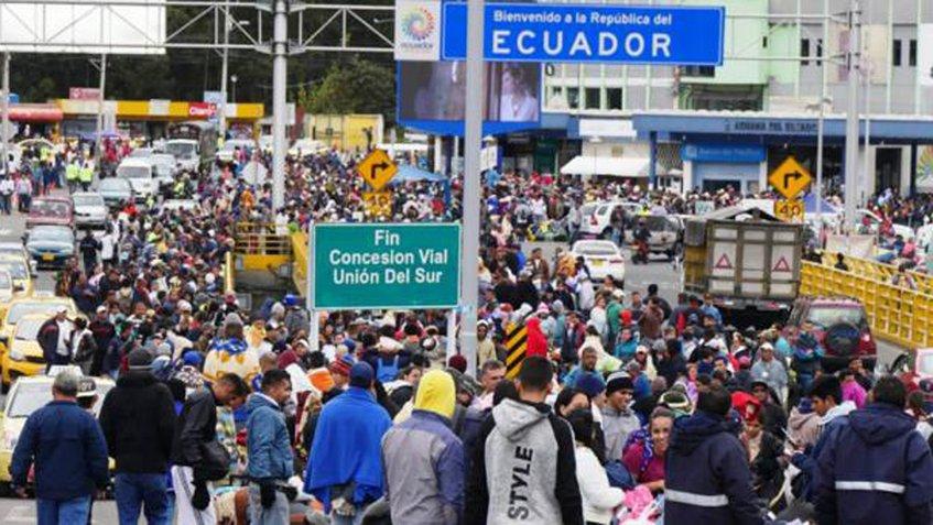 Más de cinco mil venezolanos entraron a Ecuador durante el mes de agosto